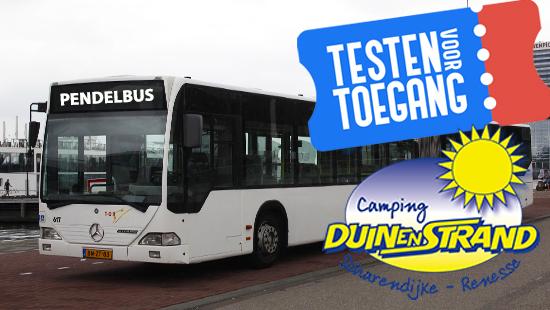 Busreis naar Camping Duin en Strand - Pendelbus - Testen voor toegang in Camping Duin en Strand