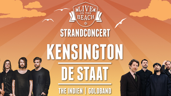 Concertvervoer naar Kensington & De Staat - LIVE on the BEACH