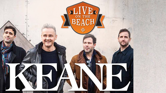 Bus naar LIVE on the BEACH - KEANE